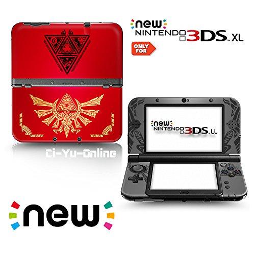 Ci-Yu-Online Aufkleber für Nintendo 3DS XL / LL Konsolensystem, Vinyl, Motiv The Legend of Zelda Triforce Heroes Hyrule #2, Rot (Legend Of Zelda 3ds-aufkleber)