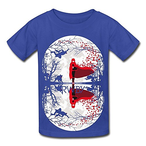 Sixtion Kids Boys Girls Tee Shirt Total RWBY Ruby Rose Lunar Eclipse Ninja Navy Large -
