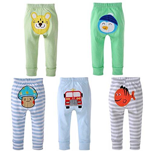danrol Baby Jungen Porzellanperlen Cartoon Pants Set 100% Baumwolle Gr. 2 Jahre , mehrfarbig