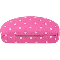 Neoviva - Estuche con revestimiento de tela para monturas medianas y grandes, tela, Polka Dot Pink
