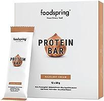 foodspring - Barritas proteicas - Sabor Avellana - 33% de proteína - Sin azúcares añadidos - Perfectas para después de entrenar o como merienda para llevar(12 x 60g)
