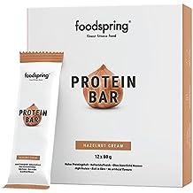 9d8722893 foodspring - Barritas proteicas - Sabor Avellana - 33% de proteína - Sin  azúcares añadidos