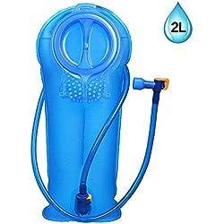 Bolsa De Agua Unigear Dispositivo de Agua Hermética 2/2.5/3L para Mochila Hidratación Aprobado Por La FDA Y BPA Libre TPU Camping Ciclismo Senderismo (Versión Profesional(Azul), 2L)