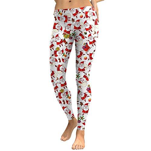 Für Damen Herbst Und Winter Santa Claus Leggings Digitaldruck Füße Hose Sd046 ()