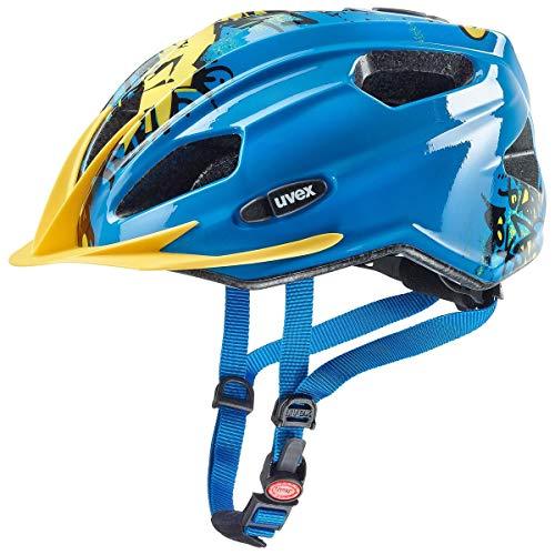 Uvex Quatro Junior Kinder Fahrrad Helm Gr. 50-55cm blau/gelb 2019