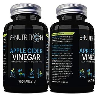 E-Nutrition Apple Cider Vinegar 120 Tablets - Vegan - Weight Loss - Made in UK