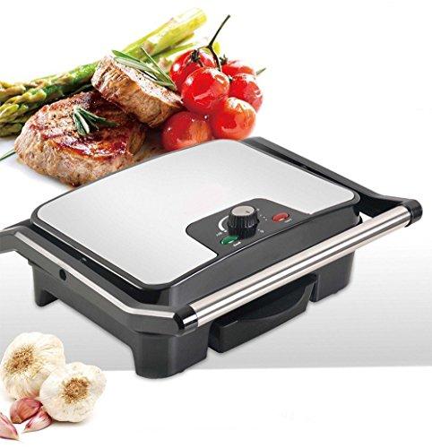 Elektrischer Tischgrill Sandwichtoaster Kontaktgrill Sandwich-Grill Multigrill 2000 W