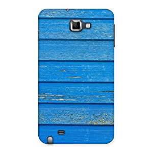 Cute Blue Wood Texture Print Back Case Cover for Galaxy Note