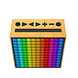 Divoom TIMEBOX/IV - Altavoz portátil Bluetooth con Luces LED (5W, 12 Modos de Alarma Inteligente, 256 Colores)