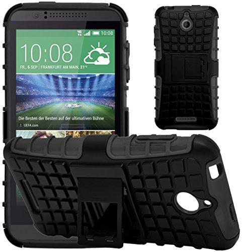 G-Shield Hülle für HTC Desire 510 Stoßfest Schutzhülle mit Ständer - Schwarz