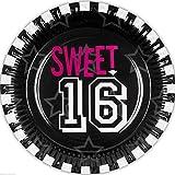Neu: 6 Party-Teller * Sweet 16 * für Eine Party Zum 16. Geburtstag   Feier Sechzehn Teenie Teenager Partyteller Pappteller Einweg Fete Motto Mädchen Girl