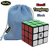 HappyToy MoYu TangLong 3x3x3 3 vitesse puzzle cube lisse couche en cube noir + cube jouet un cube sac magique