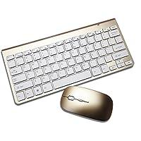 Lacaca Ultra sottile portatile tastiera wireless 2.4G e mouse combo per Laptop/Desktop/intelligente TV