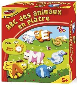 Joustra - 43500 - Kit de ocio creativo - ABC animales yeso