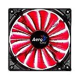AeroCool Shark 14 cm Quad LED Fan with 15 Blade Fluid Dynamic Bearing - Red