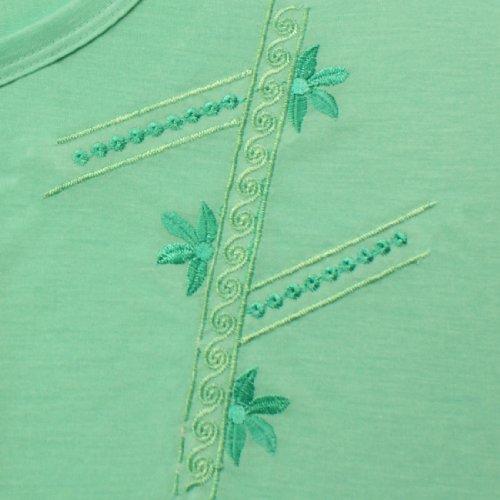 Lucky chemise de nuit 100%  coton-couleur unie en élégant et de qualité avec passepoil-eDITION de luxe Turquoise - Menthe