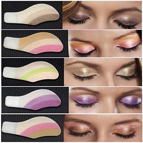 Zarupeng 6 Paar Lidschatten-Aufkleber, Instant Eye Shadow Temporäre Make-up Augen Tattoo Aufkleber Profi Schminkset, Kann abreißen (One Size, A) -