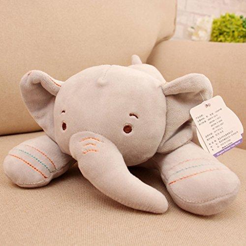WYQLZ Doux Bande Dessinée Belle Éléphant Taie Oreiller Bureau À La Maison Chevet Canapé Coussins Enfant Doux Jouet ( Couleur : Gris , taille : 25cm )