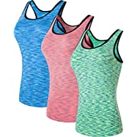 jeansian Women's 3 Packs Quick Dry Base Layer Tank Tops Vests SWT241 PackD S