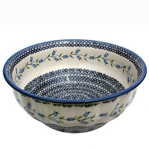 Original Bunzlauer Wavy Salad Bowl, Decorative Agnes