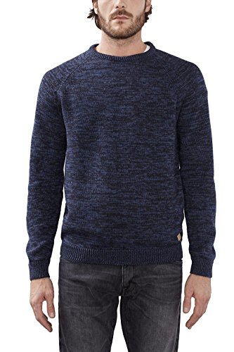 edc by ESPRIT 116CC2I021, Felpa Uomo, Blu (Navy), Medium
