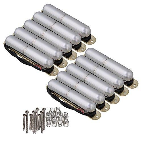 Coil Tube (yibuy Vintage Lippenstift Tube Single-Coil Tonabnehmer für E-Gitarre Set von 10 chrome)