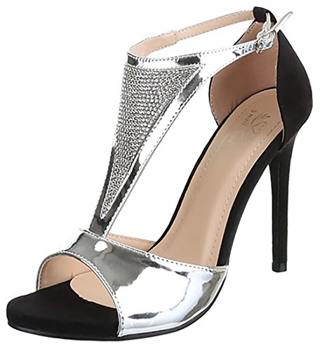 51qPRD1UrCL - MYWY - sandali donna scarpe alte donna sandali elegante  vernice con strass tacco cm 1678a96d8ff