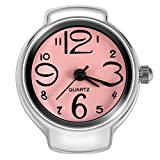 Dilwe - Reloj analógico de Cuarzo, 8 Colores, diseño de Anillo de Dedo, Rosa