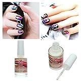 Bluelover 15 Ml Adesivo Nail Art Glue Per Adesivo Foil Consigli Di Trasferimento Chiodo