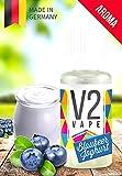 V2 Vape Blaubeer-Joghurt AROMA/KONZENTRAT hochdosiertes Premium Lebensmittel-Aroma zum selber mischen von E-Liquid/Liquid-Base für E-Zigarette und E-Shisha 10ml 0mg nikotinfrei