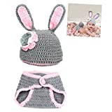 Qingsun Babys Rabbit Photography Props Outfits Knitting Costume for Baby Boys Girls 0-4 Months