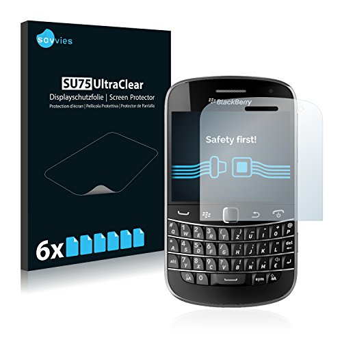RIM BlackBerry Bold Touch 9900 Schutzfolie - 6er Set Savvies kristallklare Displayschutzfolie Folie Displayfolie