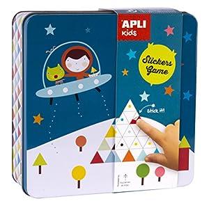 APLI Kids- Juego de gomets en Caja metálica, Haciendo el Indio (14533)