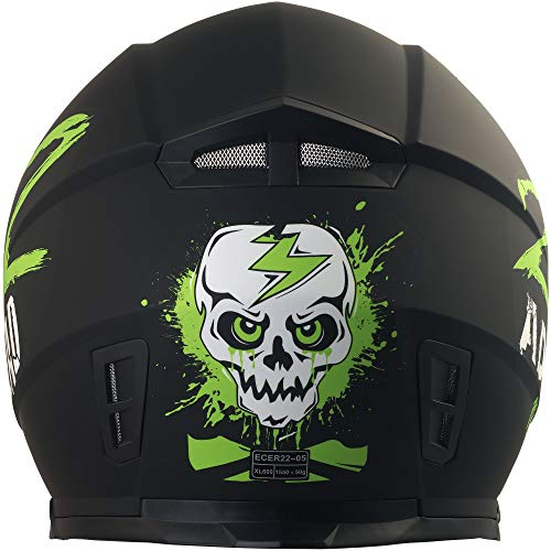 Broken Head Adrenalin Therapy II matt (M 57-58 cm) Motorradhelm – Helm grün – Integralhelm - 6