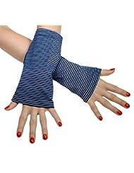 Immerschön farbenfrohe Armstulpen - Pulswärmer - handgearbeitet - jedes Teil ein Unikat as 1