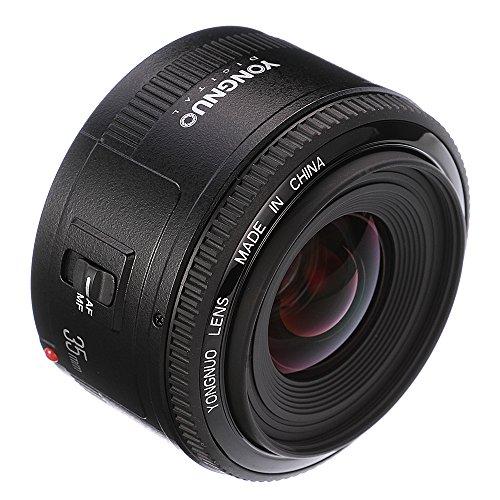 Yongnuo YN35MM Canon - Objetivo para cámara réflex (f/2.0 AF/MF), Color Negro