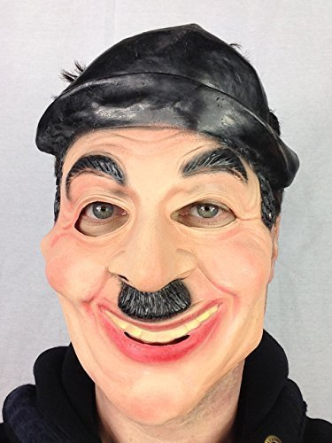 CHARLIE CHAPLIN-Latex Maske famous Silent Movie Star Fancy Dress Party