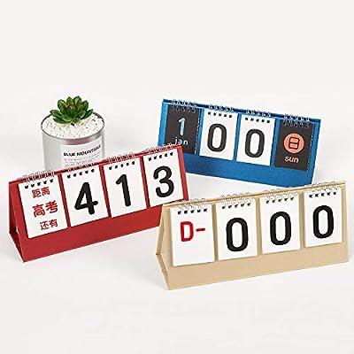 SMAQZ Calendario De Escritorio De Cuenta Atrás del Centro De Prueba del Calendario Pequeño Creative Desk Calendar por SMAQZ