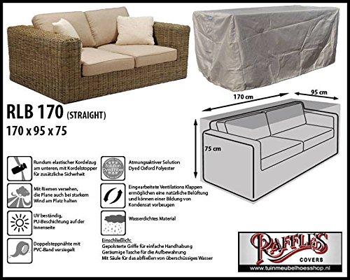 RLB170straight Wetterschutz für Lounge Bank, Gartensofa oder Lounge Sofa, 2 Sitzer, passt am besten am Sofa von max. 170 x 90 cm. Schutzhüllen für Bank, Schutzhülle für Lounge...