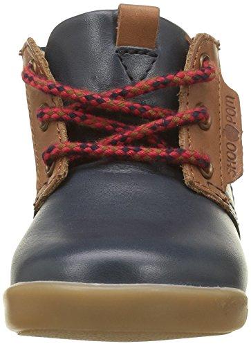 Shoo Pom Trot, Chaussures Premiers Pas Bébé Garçon Bleu (Lipiz Navy/Caramel)