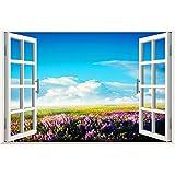 XMJR Un gran mural escenico pared pintura decorativa fondo TV Wall Painting falsas ventanas sin salir de adhesivo especificaciones 120 * 80 cm