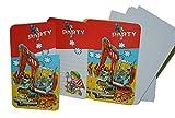 12 tlg. Set Baustelle Einladungskarten mit Umschlag Einladung Karte Karten