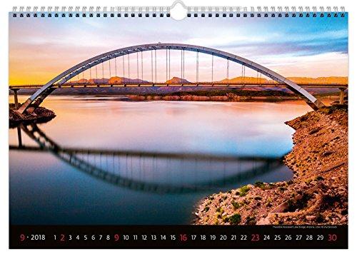 C124-18 Kalpa Wall Calendar 2018 Beautiful Bridges Calendar 45 x 31.5 cm