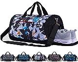CoCoMall Sporttasche mit Schuhfach und Nasstasche, Reisetasche für Damen und Herren L Galaxy