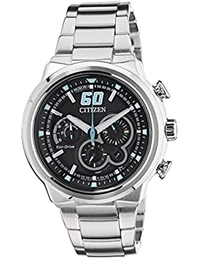 Citizen Herren-Armbanduhr XL Chronograph Quarz Edelstahl CA4130-56E