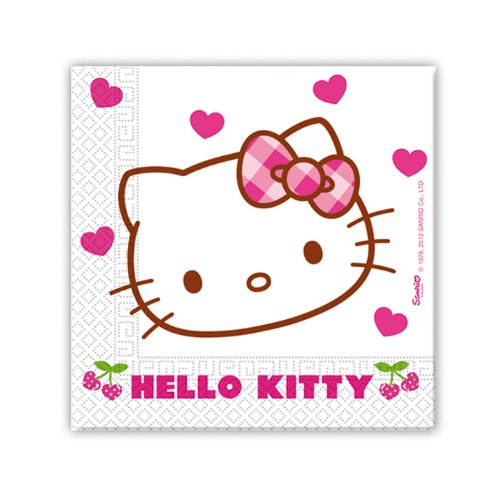 NEU Servietten Hello Kitty, 33 cm, 20 (Hello Kitty Kostüme Prinzessin)