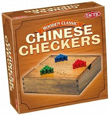Tactic - 14027 - Jeu Classique - Jeux De Voyage En Bois : Dames Chinoises