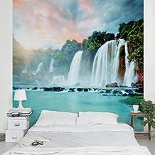 Fotomural - Waterfall Panorama - Mural cuadrado, papel pintado, fotomurales, murales pared, papel para pared, foto, mural, pared barato, decorativo