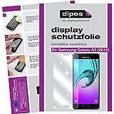 dipos I 6X Schutzfolie klar passend für Samsung Galaxy A3 (2016) Folie Displayschutzfolie (3X Vorder- & 3X Rückseite)
