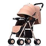 CDREAM Verbreiterung und Verlängerung Neugeborenen Kinderwagen Kann Sitzen 0-3 Jahre Alt Baby Regenschirm Warenkorb Sitzen,Brown
